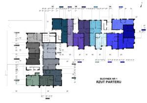 Blok numer 3 - rozkład mieszań parter